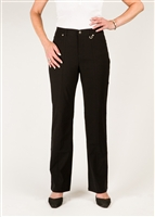 Simon Chang 5 Pocket Straight Leg Microtwill Pants Style # 3-5302X - Colour: Black - [PLUS SIZE]Sold out
